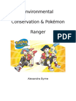 game analysis paper - environmental conservation and pokemon ranger