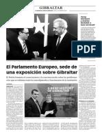 160225 La Verdad- El Parlamento Europeo, Sede de Una Exposición Sobre Gibraltar