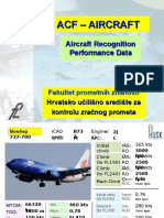 Aircraft Recognition and Performance Data