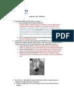 AP2 BIOFISICA 2015 1 Com Gabarito