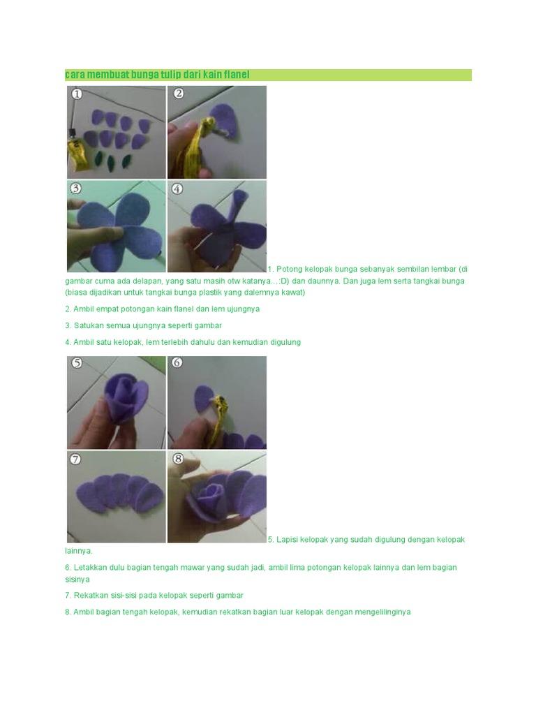 Cara Membuat Bunga Tulip Dari Kain Flanel