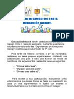 Ciencia en Galego Educacion Infantil