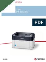 Bedienungsanleitung Kyocera FS-1061DN