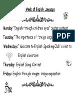 the week of english language
