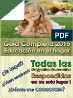 Guía de Educación en El Hogar 2015