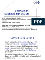 Spin Practical Aspects in Concrete Mix Design