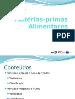 Matérias-primas Alimentares Conteúdos Programáticos