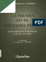 La Prueba en El Proceso Penal - Cafferata Nores