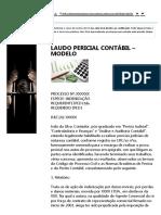 Modelo Laudo Pericial Contábil Pg 01 - Curso de Perito - IPED