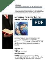 Modelo Petição de Laudo Pericial Pg 01 - Curso de Perito - IPED