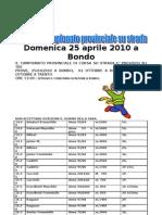 Domenica 25 Aprile 2010 a Bondo