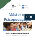 Competencias y Plan de Estudios Master Oficial en Psicopedagogia Uniba