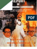 Abridged Version of Srikrishna Commission's Report