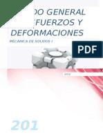Estado General de Esfuerzos y Deformaciones-Ejemplos