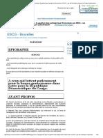 L'Apport Du Management Dans La Gestion Des Entreprises Financières en RDC