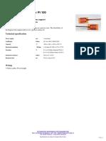 Temperature sensor Pt 100 Type 22810