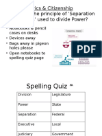 c c separation of powers lesson 2