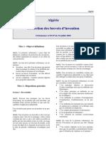 Algerie - Brevets Invention