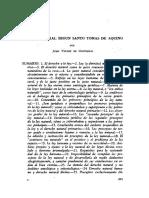 La Ley Natural Segun Santo Tomas de Aquino - Juan Vallet de Goytisolo