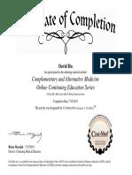 hu alternativemedicine certificate