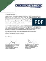 Excuse Letter for Delegates