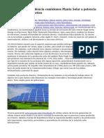Grupo Solar dependencia comisiones Planta Solar a potencia Thyagaraj polideportivo