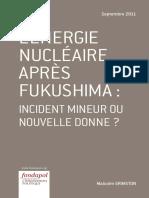 Malcolm Grimston - L'énergie nucléaire après Fukushima