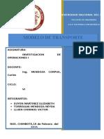 Modelo Transporte Informe