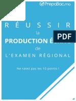 Réussir la production écrite de l'examen régional