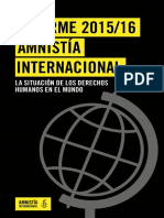 Informe 2015 Amnistía Internacional