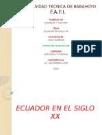 Diapositiva - Ecuador en El Siglo Xx