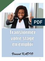 Transformer Votre Stage en Emploi