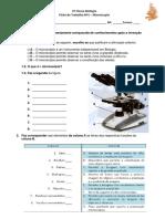 Ficha de Trablho Microscópio