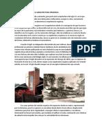 Frank Lloyd Wright y La Arquitectura Orgánica