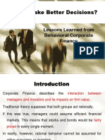 8 c.behavioral Corporate Finance