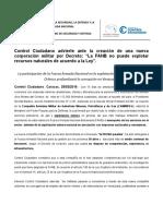 Control Ciudadano denuncia ilegalidad de compañía militar para explotación minera creada por Maduro