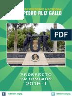 Prospecto de Admisión 2016-I by Afulito