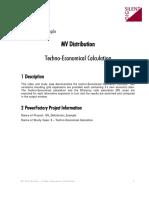 MV 6 Techno Economical Calculation