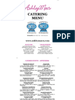 Ashley Mac's Web Catering Menu