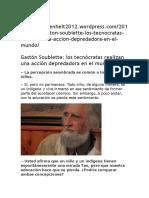 Gastón Soublette Los Tecnócratas Realizan Una Acción Depredadora en El Mundo
