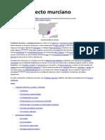 Dialecto Murciano