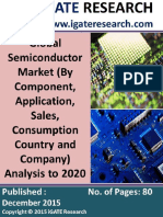 Global Semiconductor Market (by Component, Application, Company) and Regional Analysis to 2020