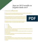 Cómo Realizar Un CRUD Sencillo en PHP y CodeIgniter Desde Cero