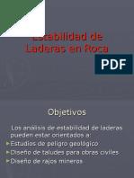Estabilidad Laderas Roca