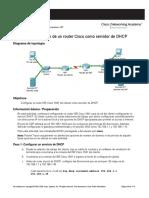 Configuración de Un Router Cisco Como Servidor de DHCP