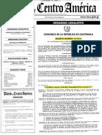 Dto. 14-2016 Reformas a Ley Organismo Legislativo Dto. 63-94
