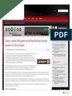 Www.frecuenciadigital.es Noticia 2 Noticia 1523 Canal y Vertice 360 Graban Con Enrique Bunbury El Primer Concierto en 3d en Espana