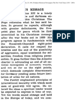 1941 - New York Times - Pope Piux XII against Hitlerism