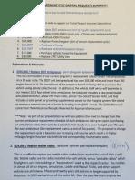 AFD Capital Equipment Requests