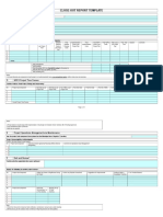 6.2 Close-Out Report Template Mar 10